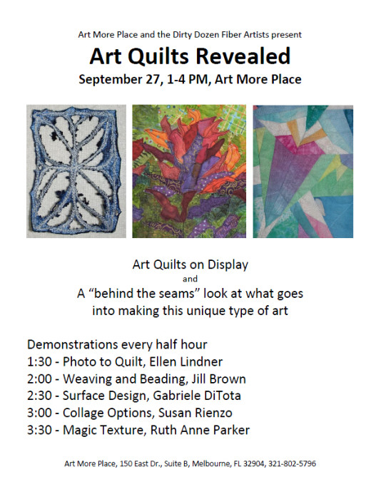 "Art Quilts Revealed, a ""behind the seams"" exhibit.  AdventureQuilter.com"